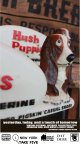 "HUSH PUPPIES 1960'S ""BREATHIN' BRUSHED PIGSKIN CASUAL SHOES "" STORE SIGN"