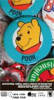 "POOH ""DISNEYLAND"" VINTAGE D.STOCK  BLUE BUTTON PIN"