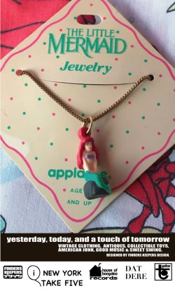 画像1: LITTLE MERMAID 1990'S D.STOCK NECKLACE