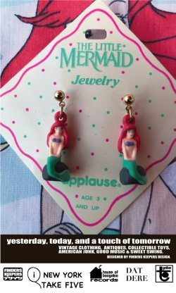 画像1: LITTLE MERMAID 1990'S D.STOCK EARRINGS