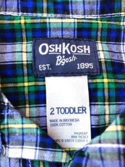 "画像5: OSHKOSH ""2T"" KIDS USED SHIRTS"