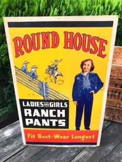 画像1: ROUND HOUSE 1950'S STORE DISPLAY SIGN