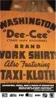 "WASHINGTON""DEE CEE"" ADVERTISING BOOK:BROWN"